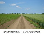 rural landscape with dusty path ... | Shutterstock . vector #1097019905