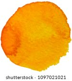 watercolor stain  orange | Shutterstock .eps vector #1097021021