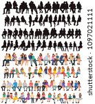 vector  isolated  set of... | Shutterstock .eps vector #1097021111