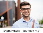 portrait of young entrepreneur. ... | Shutterstock . vector #1097025719
