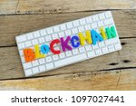 block chain cryptocurrency... | Shutterstock . vector #1097027441