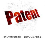 law concept  pixelated red text ... | Shutterstock . vector #1097027861
