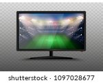 modern smart 4k tv set 3d... | Shutterstock .eps vector #1097028677