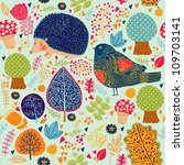 Seamless Pattern With Flower ...