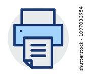printer device office  | Shutterstock .eps vector #1097033954