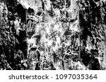 grunge black and white pattern. ... | Shutterstock . vector #1097035364