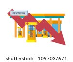 concept of a gas station for... | Shutterstock . vector #1097037671