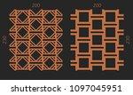 laser cutting interior set....   Shutterstock .eps vector #1097045951