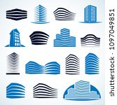 futuristic buildings set ... | Shutterstock .eps vector #1097049851