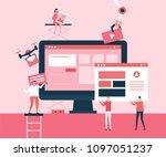 desktop application   flat...   Shutterstock .eps vector #1097051237