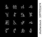 set of people  sign  gesture... | Shutterstock .eps vector #1097052674