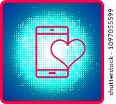 mobile heart symbol love or...   Shutterstock .eps vector #1097055599