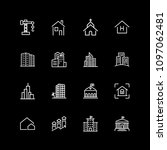 set of construction line icons | Shutterstock .eps vector #1097062481