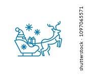 santa's sleigh linear icon... | Shutterstock .eps vector #1097065571