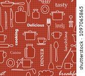 kitchenware and words   dark...   Shutterstock . vector #1097065865