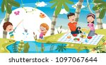 vector illustration of family... | Shutterstock .eps vector #1097067644