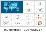 colorful infographic charts set | Shutterstock .eps vector #1097068217