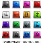 drug store web icons in square...   Shutterstock .eps vector #1097073401