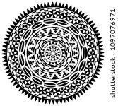 circular pattern in form of... | Shutterstock .eps vector #1097076971