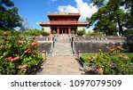 emperor minh mang tomb near hue ... | Shutterstock . vector #1097079509