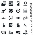 set of vector isolated black...