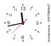 a clock on the white background.... | Shutterstock .eps vector #1097080667
