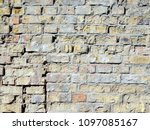 texture wall brick and stone | Shutterstock . vector #1097085167