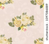 seamless floral pattern with... | Shutterstock .eps vector #1097086889