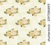 seamless floral pattern with... | Shutterstock .eps vector #1097086895