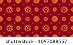 asian pattern. kabuki. japanese ... | Shutterstock .eps vector #1097088557