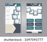 vector flyer and leaflet design.... | Shutterstock .eps vector #1097093777