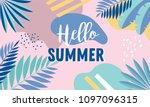 hello summer  banner design... | Shutterstock .eps vector #1097096315