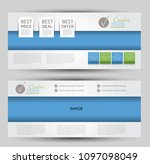 flyer banner or web header... | Shutterstock .eps vector #1097098049