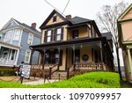 february 23  2018. birth home... | Shutterstock . vector #1097099957
