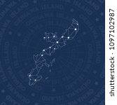 okinawa island network style...   Shutterstock .eps vector #1097102987
