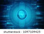 fingerprint scanning technology ... | Shutterstock . vector #1097109425