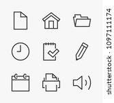set print line icon stock...   Shutterstock .eps vector #1097111174