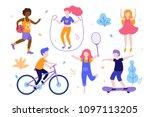 children activities. set of... | Shutterstock .eps vector #1097113205