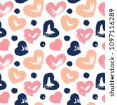seamless pattern with hand...   Shutterstock .eps vector #1097116289