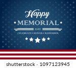 Vector Happy Memorial Day Blue...