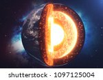 structure core earth. structure ... | Shutterstock . vector #1097125004
