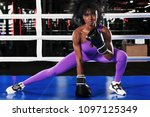young athlete woman in boxing... | Shutterstock . vector #1097125349
