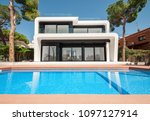 luxurious villa with swimming... | Shutterstock . vector #1097127914