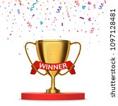 winner background. first place... | Shutterstock .eps vector #1097128481