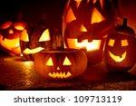 Closeup Of Scary Halloween...
