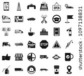 gasoline icons set. simple... | Shutterstock . vector #1097138831