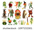 fairy tale set of mythology and ... | Shutterstock .eps vector #1097152301