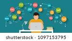 programming and coding banner ... | Shutterstock .eps vector #1097153795