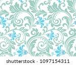 flower pattern. seamless color... | Shutterstock .eps vector #1097154311