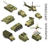 military armored transportation ... | Shutterstock .eps vector #1097155601